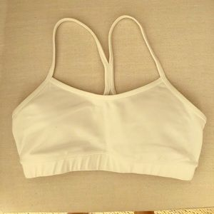 Lululemon Size 6 White sports bra